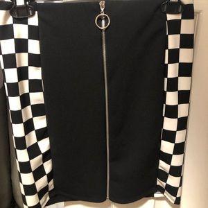 Dresses & Skirts - Checkered black skirt